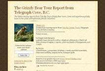 The Grizzly Bear Tour Report from Telegraph Cove, B.C.